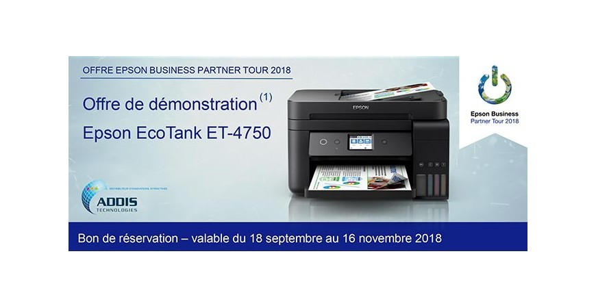 OFFRE EPSON BUSINESS PARTNER TOUR 2018